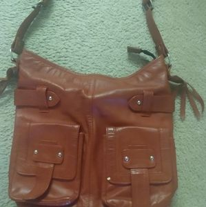 Red and Brown leather purses